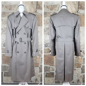 * Christian Dior 42R 42 Vintage Mens Trench Coat